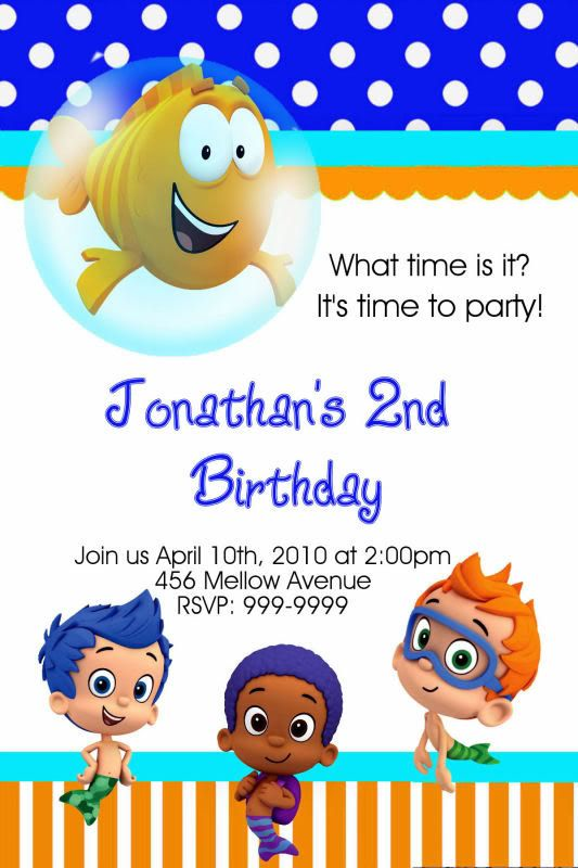 73 best images about Bubble Guppies Party – Bubble Guppies Party Invites