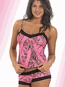 Naked North Pink Camo Lingerie Camisole and Boyshort