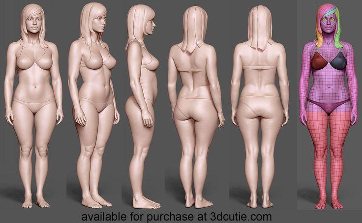 Femalemodel10 01 by 3eof.deviantart.com on @deviantART