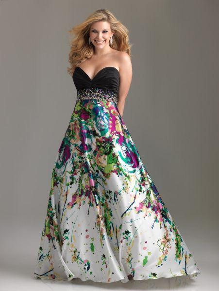 Vestidos de Fiesta 2012 para Gorditas. Coleccion Plus Sized de Night Moves by Allure.