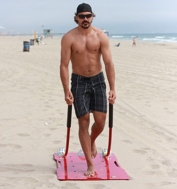 George Parros Shirtless Working Out On The Beach