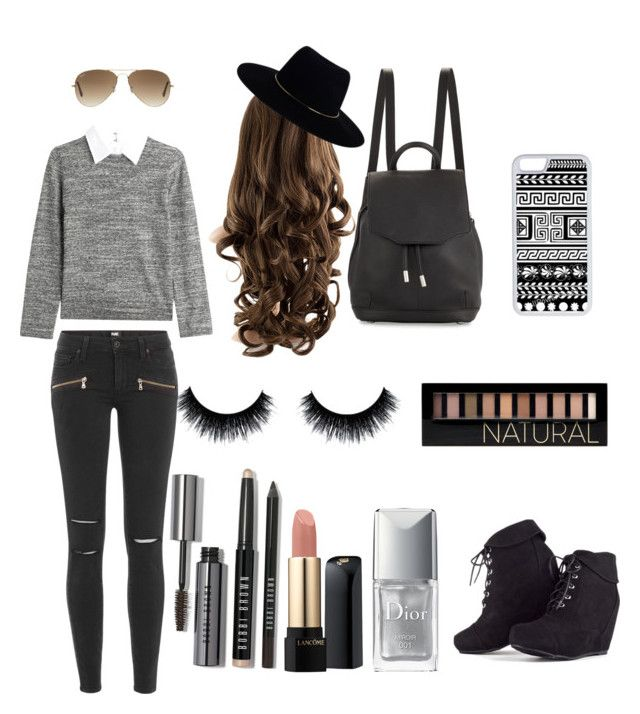 """..."" by xoannexo ❤ liked on Polyvore featuring Steffen Schraut, Zimmermann, CellPowerCases, Ray-Ban, rag & bone, Bobbi Brown Cosmetics, Forever 21, Lancôme, Christian Dior and Paige Denim"