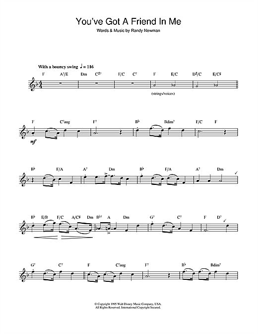 Disney Alto Sax Sheet Music | ... In Me (from Disney's Toy Story) Sheet Music Download (Alto Saxophone