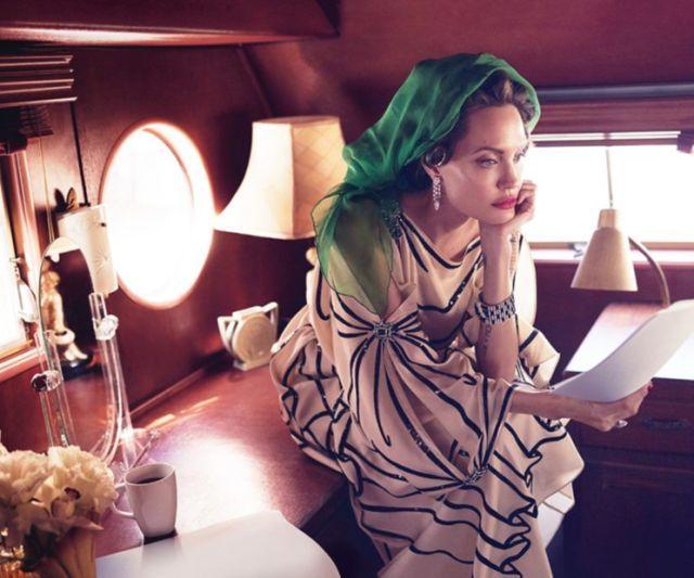 Angelina Jolie poses for Vanity Fair. (Photo: Mert Alas & Marcus Piggott exclusively for Vanity Fair)