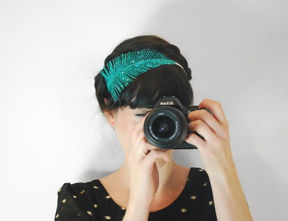 Hey, I found this really awesome Etsy listing at https://www.etsy.com/listing/166657390/teal-feather-hair-accessories-adult