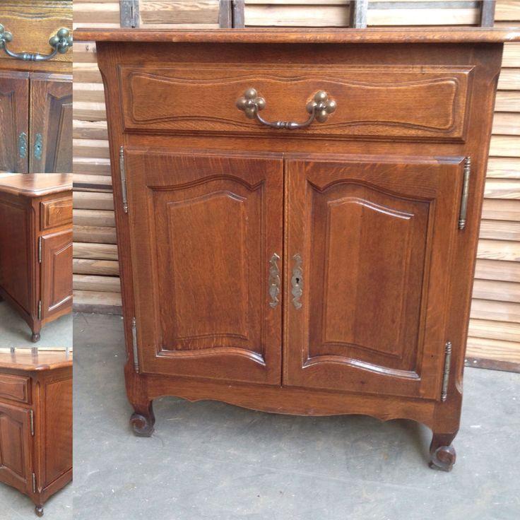 Petit meuble louis xv deux portes un tiroir ch ne fine for Petit meuble deux portes
