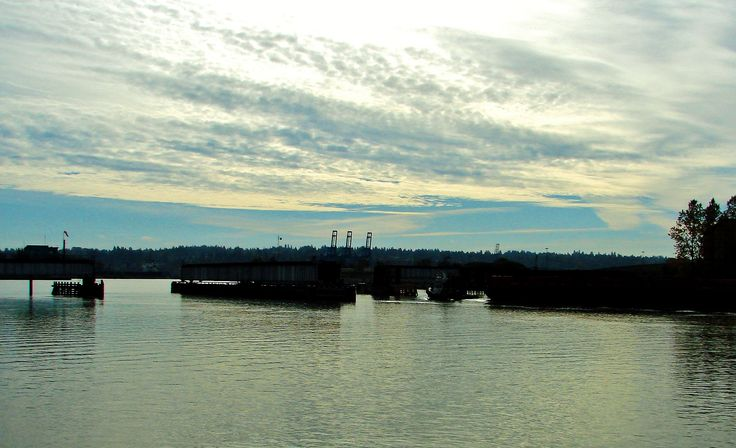 Alto-Stratus clouds over Fraser River and Surrey, B.C. - viewed from New Westminster, B.C. - 2007