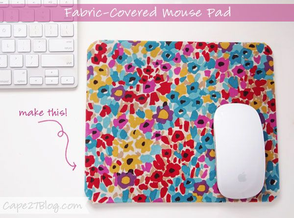 DIY - Fabric-Covered Mouse Pad