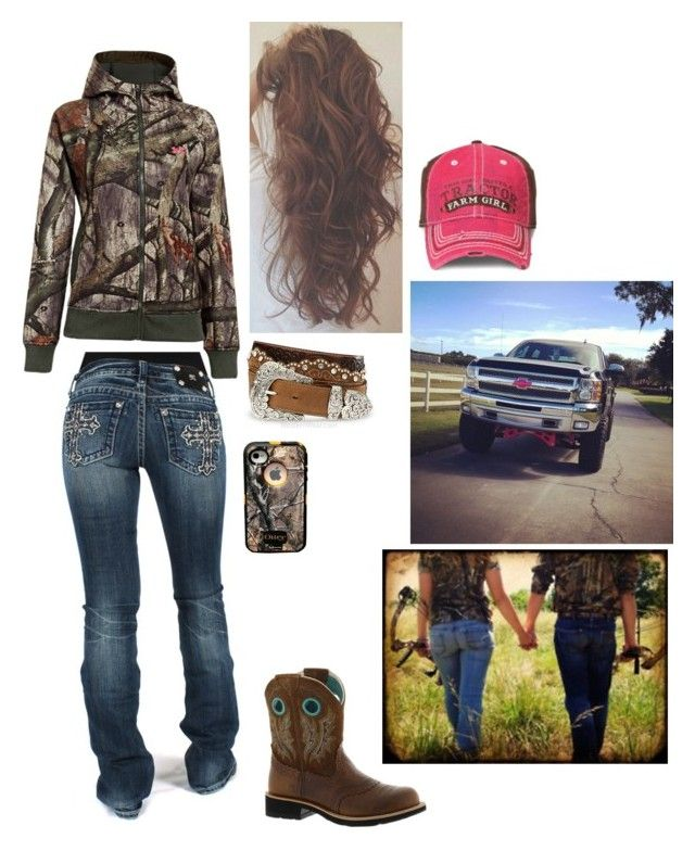 Smile, be yourself. Because the best you can be is you by country-princess-7 on Polyvore featuring polyvore, fashion, style, Tony Lama, Under Armour, Ariat and Miss Me