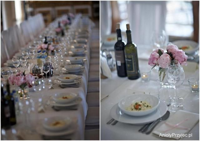 11. Peony Wedding,Long table decor / Wesele pachnące piwonią,Dekoracje stołów,Anioły Przyjęć