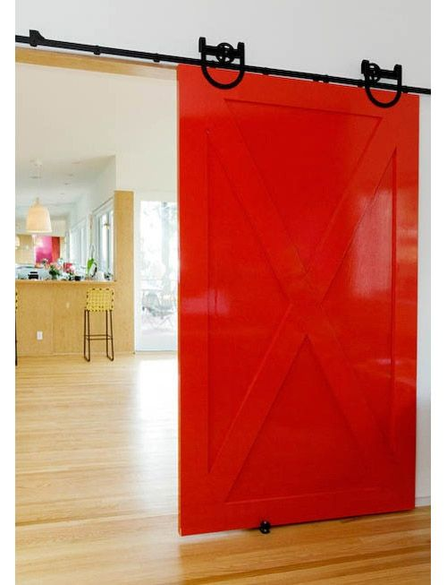 Interior Ideas: 12 Colorful Doors on the Inside in interior design home furnishings architecture  Category
