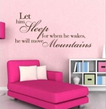 Let him Sleep wall sticker. www.theprettycollection.co.za