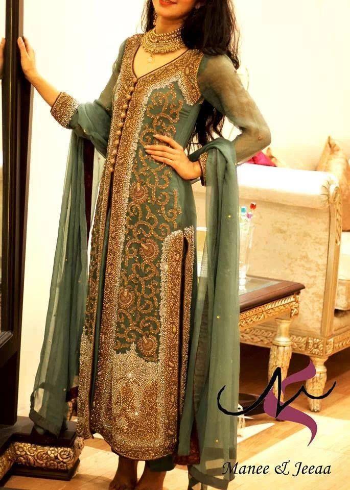 Pakistani fashion, dress by maani and jea