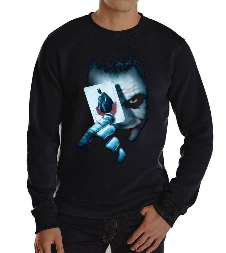 Batman Heath Ledger Joker Hoodies Sweatshirt //Price: $20.3 & FREE Shipping //