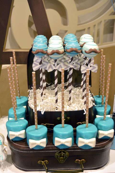 Desserts at a mustache birthday party! See more party planning ideas at CatchMyParty.com!