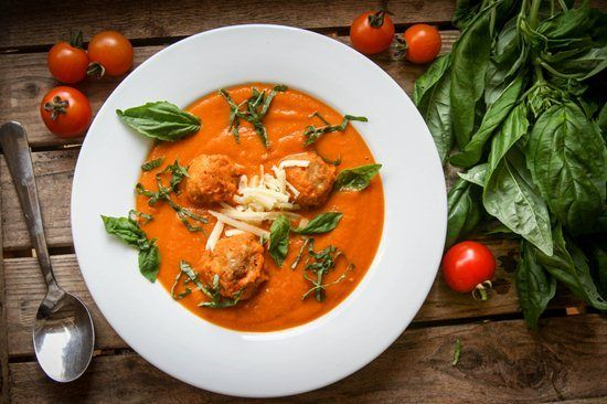 Roasted Tomato Soup with Cheddar Dumplings - Great British Chefs