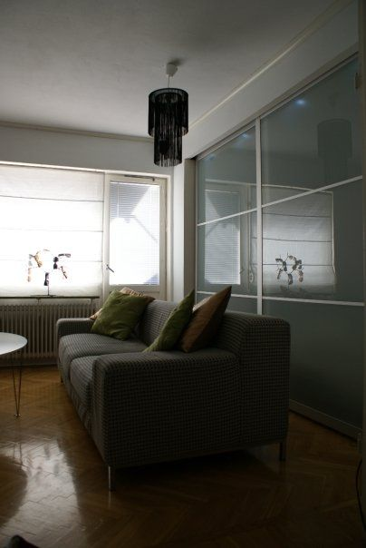 holy cow this guy turned his studio apartment into a one bedroom using the pax frosted sliding. Black Bedroom Furniture Sets. Home Design Ideas