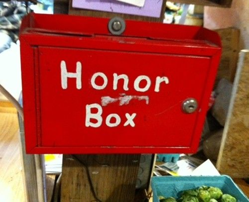 The best of the past, now: Hanover Farms roadside stand in NY: 24/7, honor box