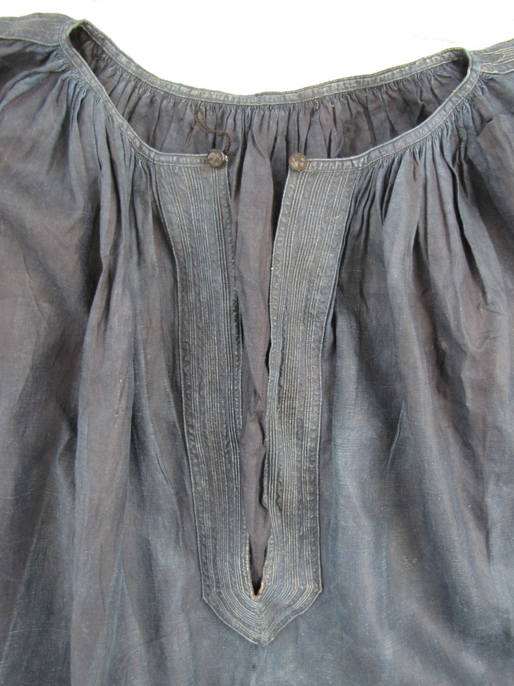 antique french linen smock yoke detail. I love seeing detail in old & antique clothing.