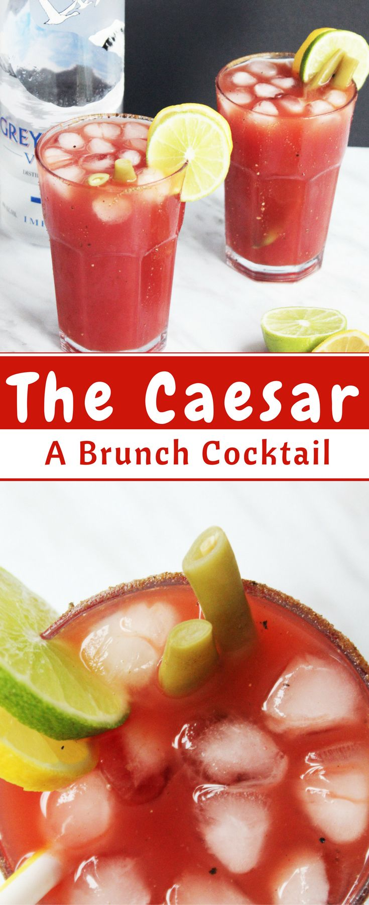 The Caesar drink is a classic Canadian brunch cocktail, made  with vodka, clamato juice and various spices.  Highly regarded as a hangover cure, this is Canada's best kept secret!  Caesar cocktail | bloody mary | brunch cocktail | easy cocktail | vodka cocktail | spicy cocktail via @Slow The Cook Down