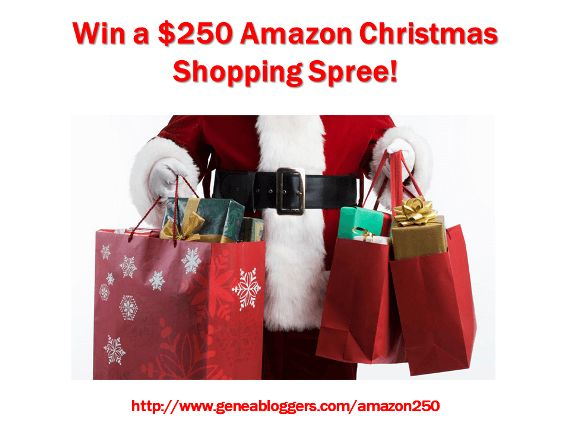 Win a $250 Amazon Christmas Shopping Spree from GeneaBloggers #genealogy