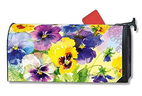 MailWraps Mixed Pansies Mailbox Cover 01077 *** Learn more by visiting the image link.