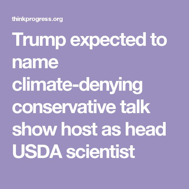 Trump expected to name climate-denying conservative talk show host as head USDA scientist