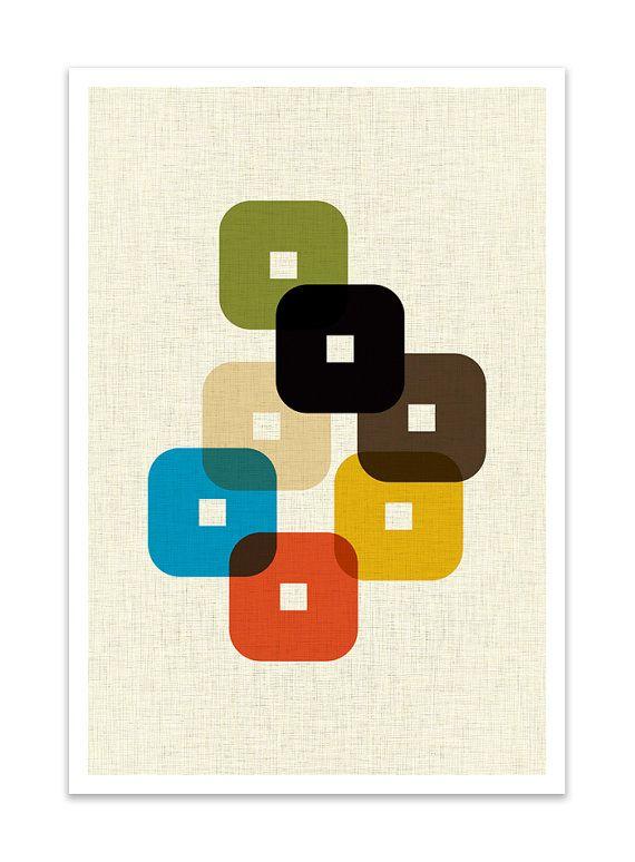 STAND – Giclee Print – Mid Century Modern Danish Modern Minimalist Modernist Eames Abstract