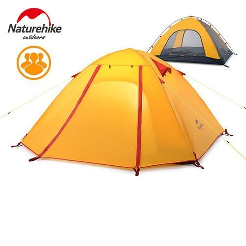 Newly Arrived 3-4 Person Tent 3 season Double Layer Outdoor Camping Hike Travel Play Tent Aluminum Pole