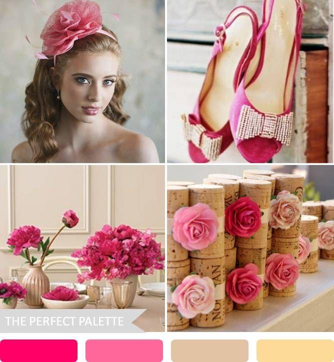 {party palette}: shades of pink + warm neutrals http://www.theperfectpalette.com/2013/02/party-palette-shades-of-pink-warm.html#