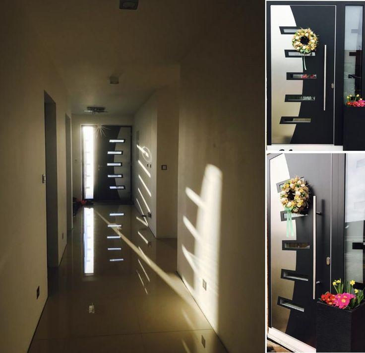 Vchodové dvere s hliníkovou predsadenou dvernou výplňou GAVA 587 https://www.gavaplast.sk/produkty/gava-587-ral-7011-vchodove-dvere-587