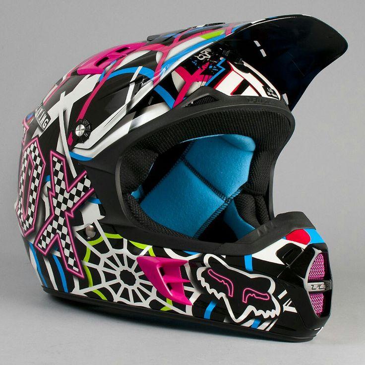 Fox helmet - love it! so colorful