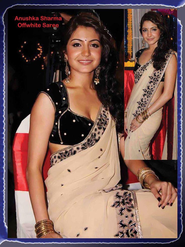 Anushka, #Saree, Velvet Blouse