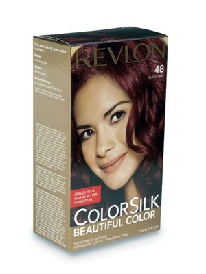 The Revlon ColorSilk auburn shade, Burgundy, was a top performer, acing the gray-coverage and shine-retention tests.