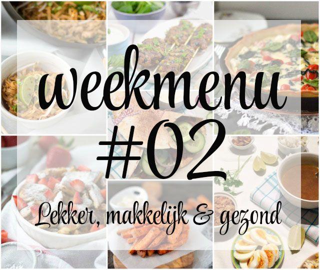 Lekker, makkelijk en gezond weekmenu – week 2. Deze week staat er een heerlijke quiche op het menu, een snel (en gezond) gerecht uit de wok, een makkelijke Turkse wrap voor de vrijdag en zondag een heerlijke, zoete afsluiter.