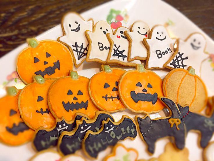 あずりん's dish photo happy Halloween   アイシングクッキー初挑戦 | http://snapdish.co #SnapDish