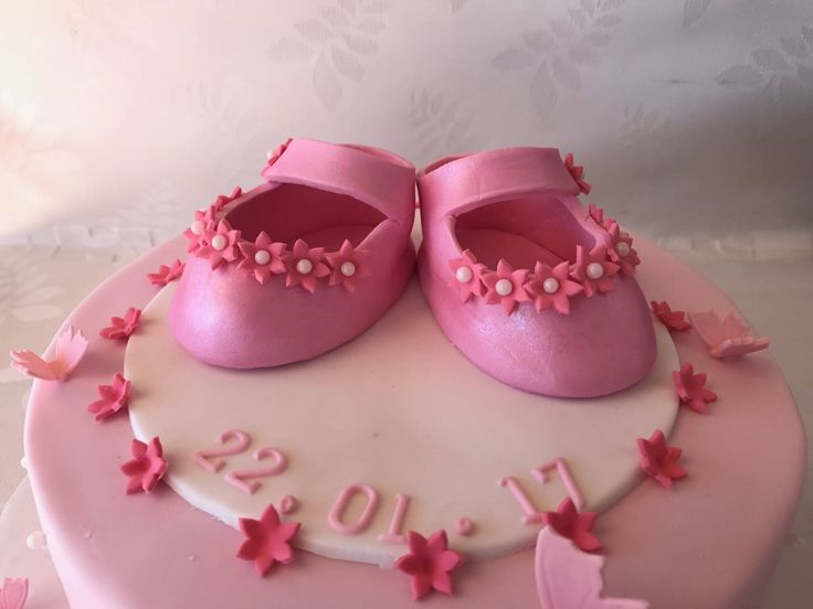 Baby Shoe for Baby shower, Christening, Booties, any color, cute Cake topper, Girl or Boy by SerasCakeArt on Etsy