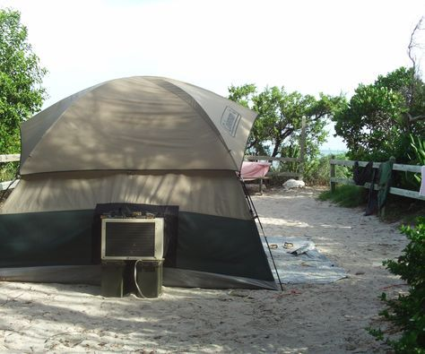 Well for those who live in areas where it is almost impossible to tent camp during the hot part of the year this is should be a welcome cost efficient solution. Hot camping is no fun, epically in places where it does not cool down very much at night and is humid like Florida. So I was looking for ways to air condition my tent since I have a 5000btu window mounted air conditioner at my disposal. After looking I found 2 methods which look very promising. The AC Boot (http://acboot.com...