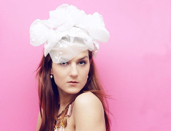 White Peony  floral crown in white with vintage by DDSLLGirlsStore, $39.00