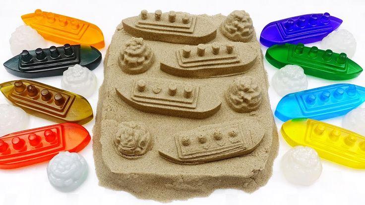 DIY How to make Raindrop Cake Kinetic Sand Titanic Rainbow Heart