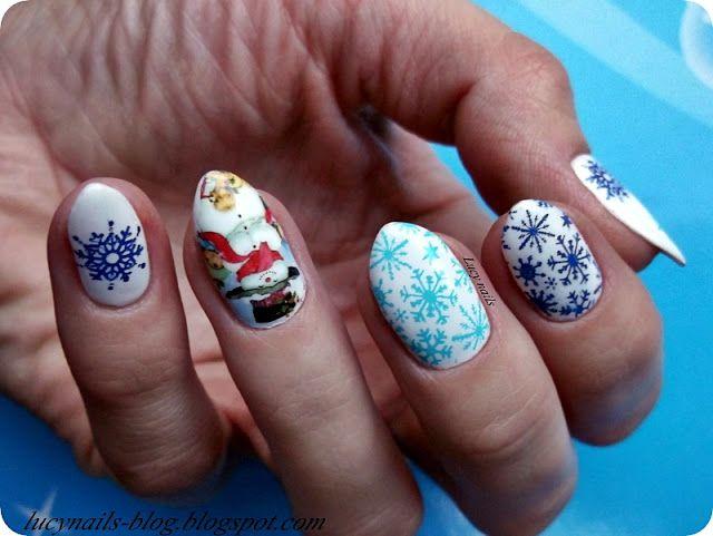 Pada śnieg...zimowe paznokcie