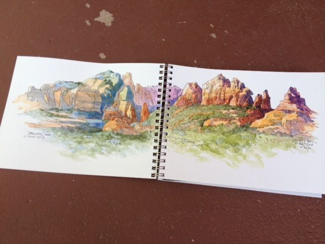 DON GETZ 'WATERCOLOR JOURNAL TOUR' OF THE USA: May 2013