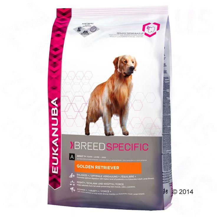 Animalerie  Eukanuba Adult Breed Specific Golden Retriever pour chien  2 x 12 kg