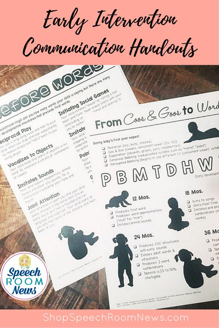 This download contains 13 parent handouts for early interventions speech therapy. Although the handouts in this packet are developed for early intervention, I also use them with severely delayed preschool students.