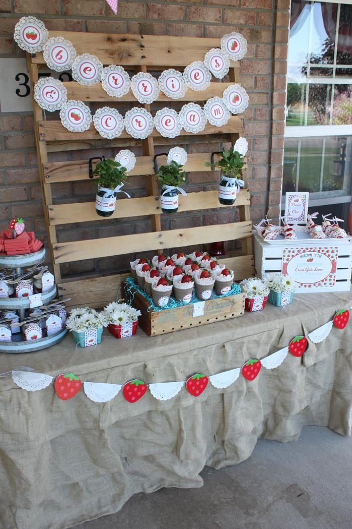 Strawberries And Cream Ice Cream Neighborhood Social Party Planning Ideas