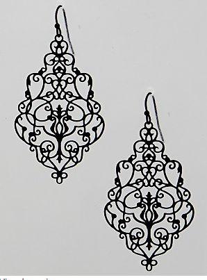Earrings - Victorian Gothic Filigree Earrings