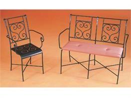 Sedie in ferro battuto Giudecca e Fenice con braccioli