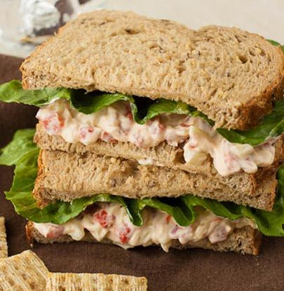 Roasted Red Pepper Spread Sandwiches - It is simple and takes hardly no time at all to prepare.