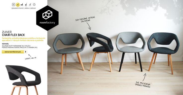 """Pohodlné, elegantné a dizajnovo jedinečné. Také sú holandské čalúnené stoličky s """"levitujúcim"""" operadlom. Ich širší posed Vám zabezpečí dostatok komfortu a vďaka kompozícii operadla sa budete môcť jemne pohupovať. V jedálni, v obývačke, či v pracovni."""
