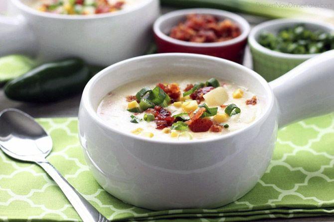 Суп Чаудер - рыбная похлёбка, одно из фирменных блюд североамериканской кухни.